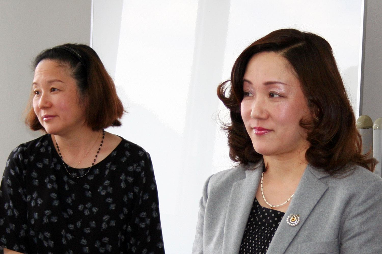 代表取締役社長 阪田郁子、すぎな農園 大西 資子